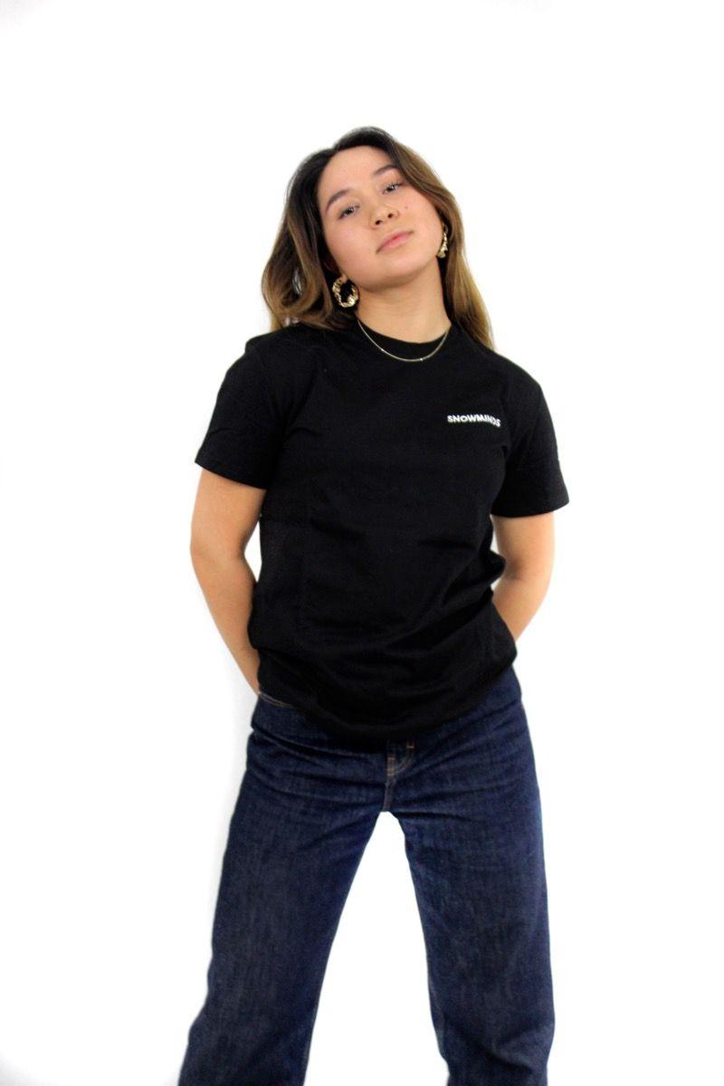 Ski t-shirt - Night Blossom Tee Unisex - Black
