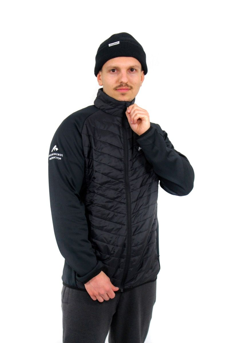 The Snowminds Instructor Midlayer - All Black - M